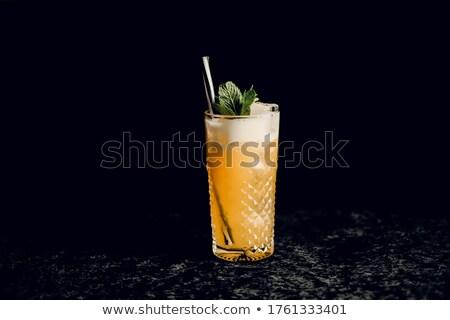 Cóctel alto vidrio beber rojo cereza Foto stock © shutswis