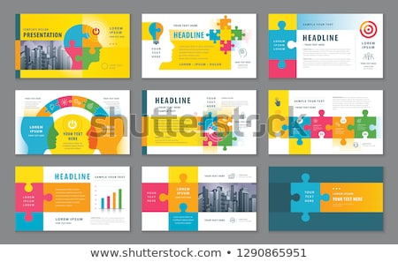 Set Goals Puzzle Head Concept Stock photo © ivelin