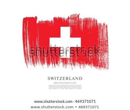 swiss grunge flag background stock photo © saicle