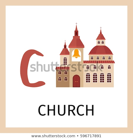 Flashcard letter C is for church Stock photo © bluering