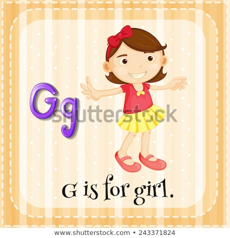 Flashcard alphabet G is for girl Stock photo © bluering