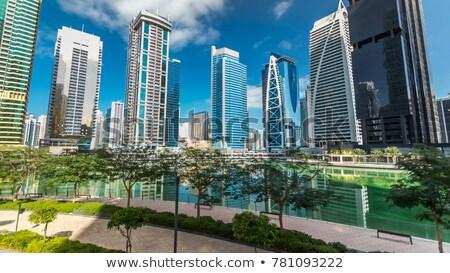 View of Jumeirah Lakes Towers skyscrapers. Dubai, UAE. Stock photo © Ray_of_Light