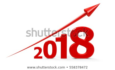 red arrow up with 2018 stock photo © oakozhan