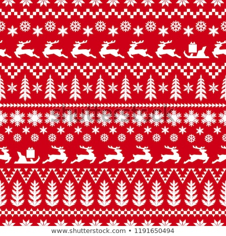 Red ornate pattern seamless background for Christmas wrapping Stock photo © orensila