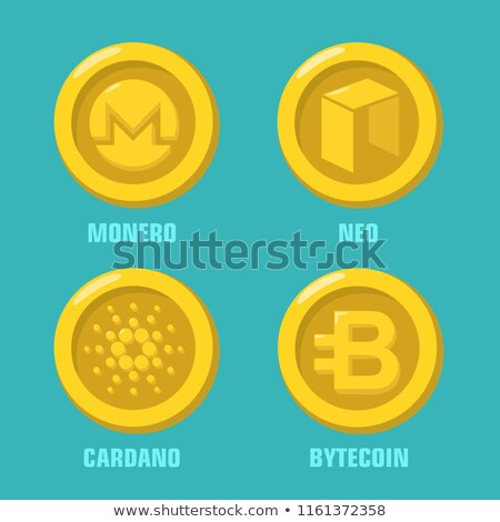vector · gekleurd · logo · virtueel · valuta · net - stockfoto © tashatuvango