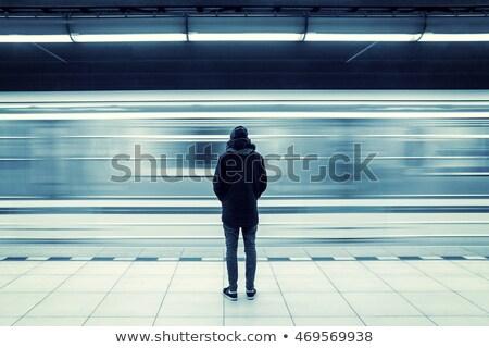 Ingázó áll vágány nő kint Tokió Stock fotó © IS2