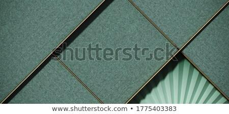 3d paper fold mockup template Stock photo © SArts