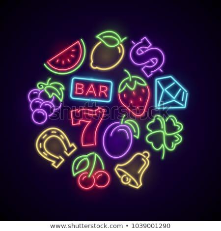 Colorful Casino Symbols Stok fotoğraf © MarySan