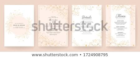 ブライダル · シャワー · 招待 · テンプレート · 結婚式招待状 · カード - ストックフォト © sarts