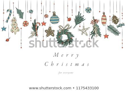 Рождества · бинго · мяча · Hat · снега - Сток-фото © get4net