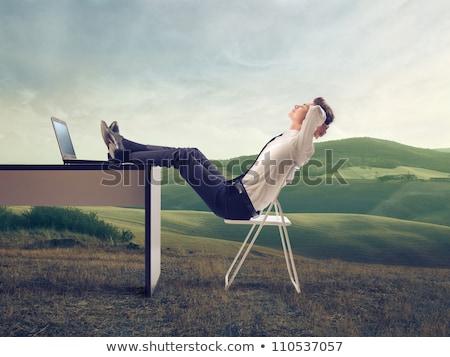 überarbeitet · Geschäftsleute · Sitzung · schlafen · schläfrig · Tagungsraum - stock foto © lopolo