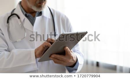 экране · импульс · символ · врач · буфер · обмена · глядя - Сток-фото © ra2studio