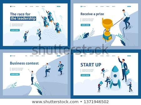 Działalności ambicja lądowanie strona biznesmen kobieta Zdjęcia stock © RAStudio