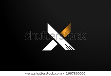 letter x yellow black icon logotype sign element stock photo © blaskorizov