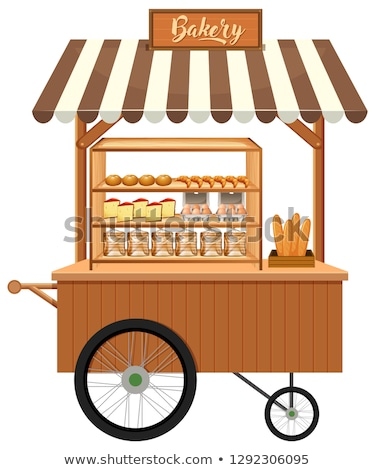 A cart display stall of bekery Stock photo © bluering