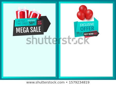 Balloons and Ribbons with Proposition of Discounts Stock photo © robuart