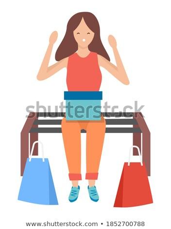 Shopping Bag in Hand of Shopper Returning Home Stock photo © robuart