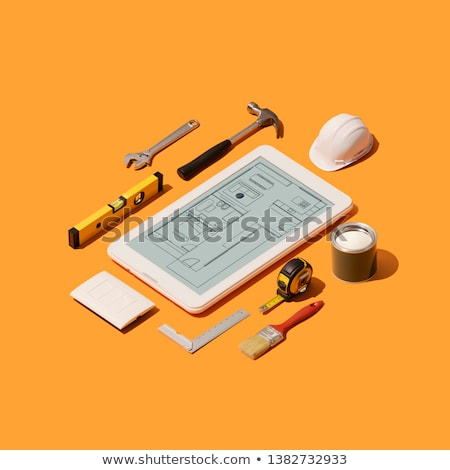 Work of repair service engineer Stock photo © pressmaster