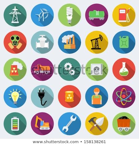 электроэнергии икона стиль текстуры бизнеса природы Сток-фото © netkov1