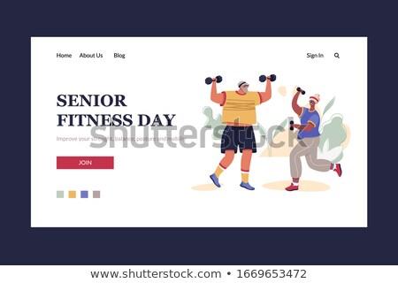 Maggiore fitness banner Foto d'archivio © RAStudio
