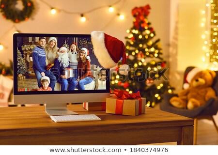 Christmas familie moeder vader dochter Stockfoto © Bozena_Fulawka