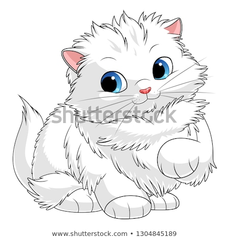 fluffy cat cartoon animal character Stock photo © izakowski