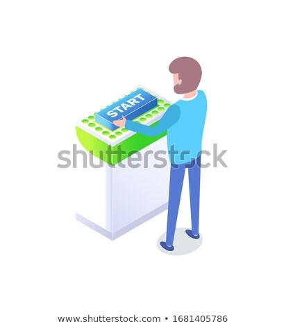 スマート 技術 ボタン スタートアップ プラットフォーム ベクトル ストックフォト © robuart