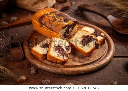 大理石 ローフ ケーキ 暗い 木板 食品 ストックフォト © grafvision