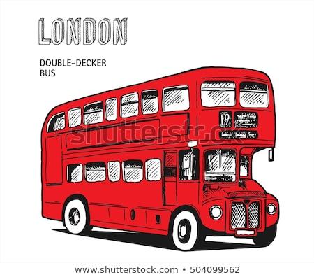 çift gezi otobüs ikon vektör Stok fotoğraf © pikepicture