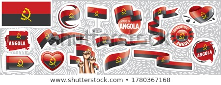 Vector set of the national flag of Angola in various creative designs Stock photo © butenkow