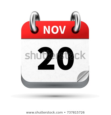 Bright realistic icon of calendar with 20 november date isolated on white Stock photo © evgeny89