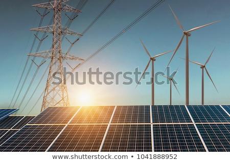 Strom Wind Energie Himmel Technologie industriellen Stock foto © elxeneize
