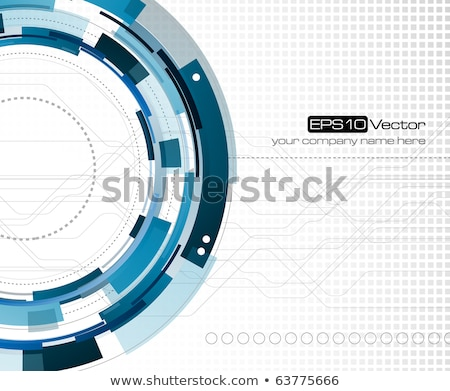 blue background with white gears symbol design Stock photo © SArts