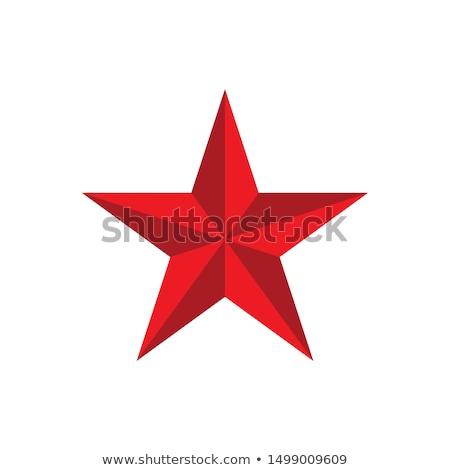abstract 3d shiny red star stock photo © pathakdesigner
