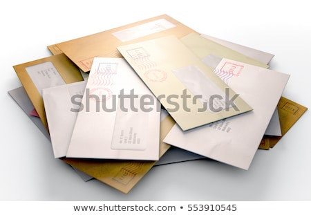 Stock photo: pile of mail