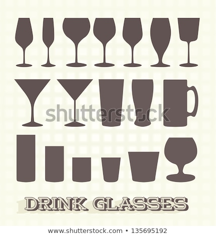 Stock photo: Cocktail Glass Collection - Stout Beer