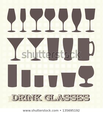 Stock fotó: Koktél · üveg · gyűjtemény · sör · izolált · fehér