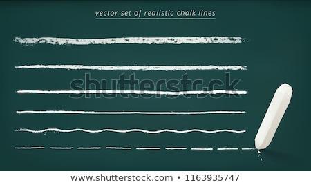 chalk border on chalkboard horizontal Stock photo © 808isgreat
