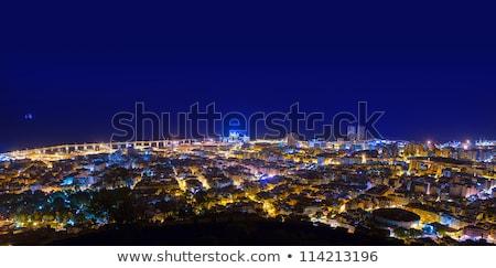 Aerial night Santa Cruz de Tenerife Canary Islands Stock photo © lunamarina