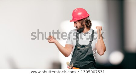 Construction worker with an award Stock photo © photography33