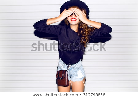 Beautiful girl with creative fashion makeup. Emotions Stock photo © gromovataya