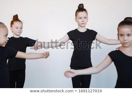 fitness black leotard Stock photo © dolgachov