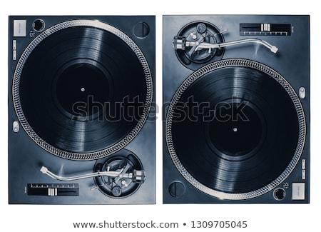 professionele · draaitafel · geïsoleerd · witte · muziek · zwarte - stockfoto © HectorSnchz