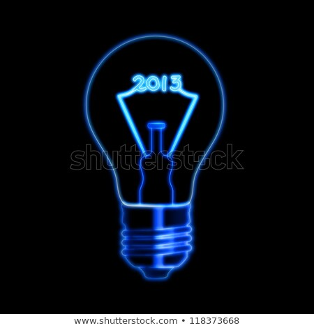 glowing year 2013 in bulb stock photo © marinini