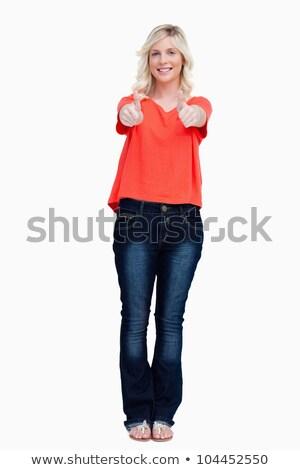 Sonriendo adolescente blanco feliz Foto stock © wavebreak_media