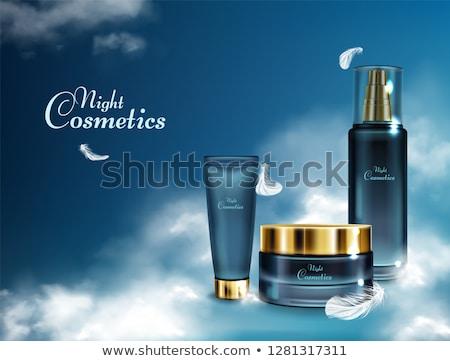 Azul perfume garrafa bombear vidro moda Foto stock © justinb