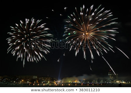 Stock photo: firework in nigth sky