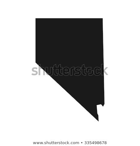 Nevada · mapa · bandeira · branco · gráfico - foto stock © michaklootwijk