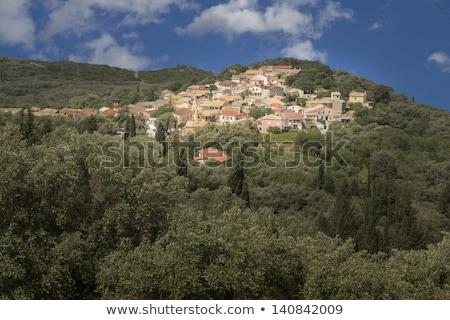 Traditional Mediterranean Mountain Village Stok fotoğraf © haraldmuc