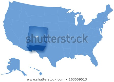 Map of States of the United States where New Mexico is pulled out Stock photo © Istanbul2009